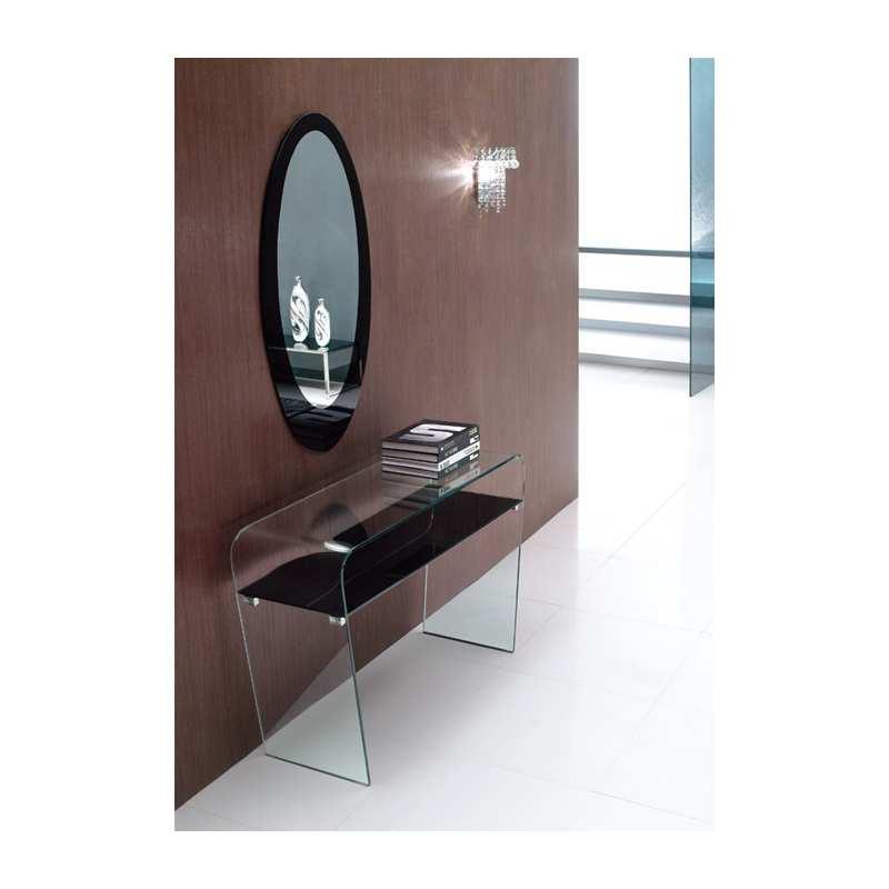 Consola de cristal tierra consola lauren muebles de cristal for Muebles de cristal
