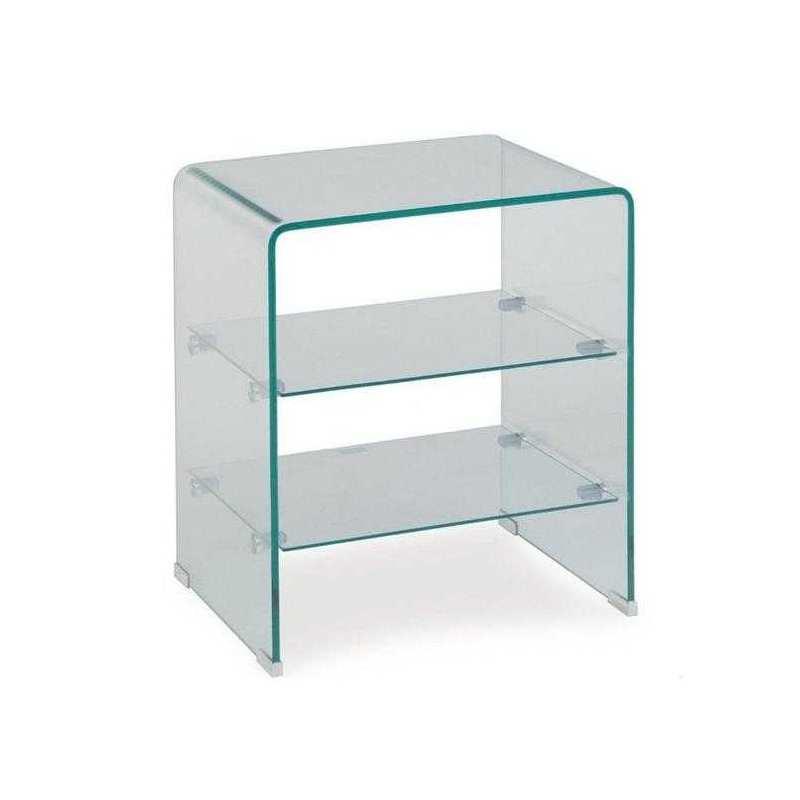 Mesa badajoz multiusos cristal templado mesa cartago for Mesas auxiliares de cristal