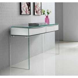 Consola Jaén Blanca Mueble de cristal