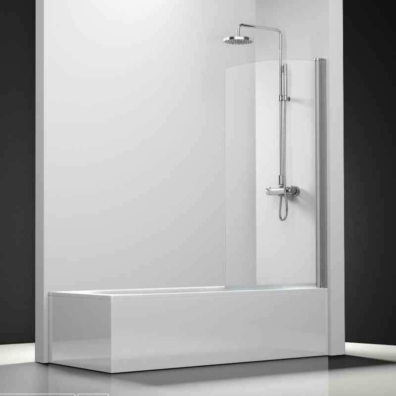 Mampara de ducha profiltek serie standard modelo hoja ba era - Mamparas de banera ...