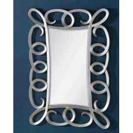 Espejo esino plata espejo rectangular con marco color - Espejos color plata ...