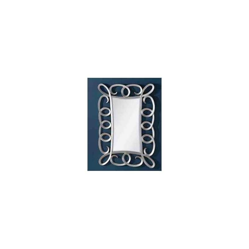 Espejo esino plata espejo rectangular con marco color for Espejos con marco color plata
