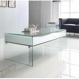 Mesa Jaén Centro Blanca Mueble de cristal