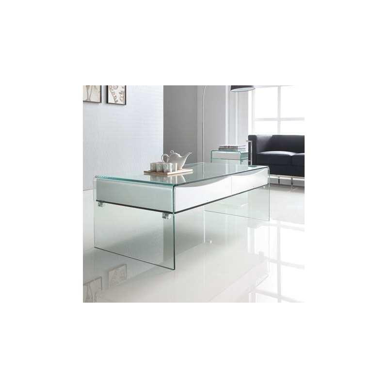 Mesa centro jaen blanca templada mesa bach mueble de cristal for Muebles en jaen