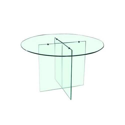 Mesa redonda le n vidrio templado 10mm mueble totalmente - Mesa redonda de cristal ...