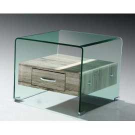 Mesa Saturno Rinconera Mueble de cristal