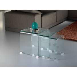 Mesas Nido Glass Schuller Mueble de Cristal