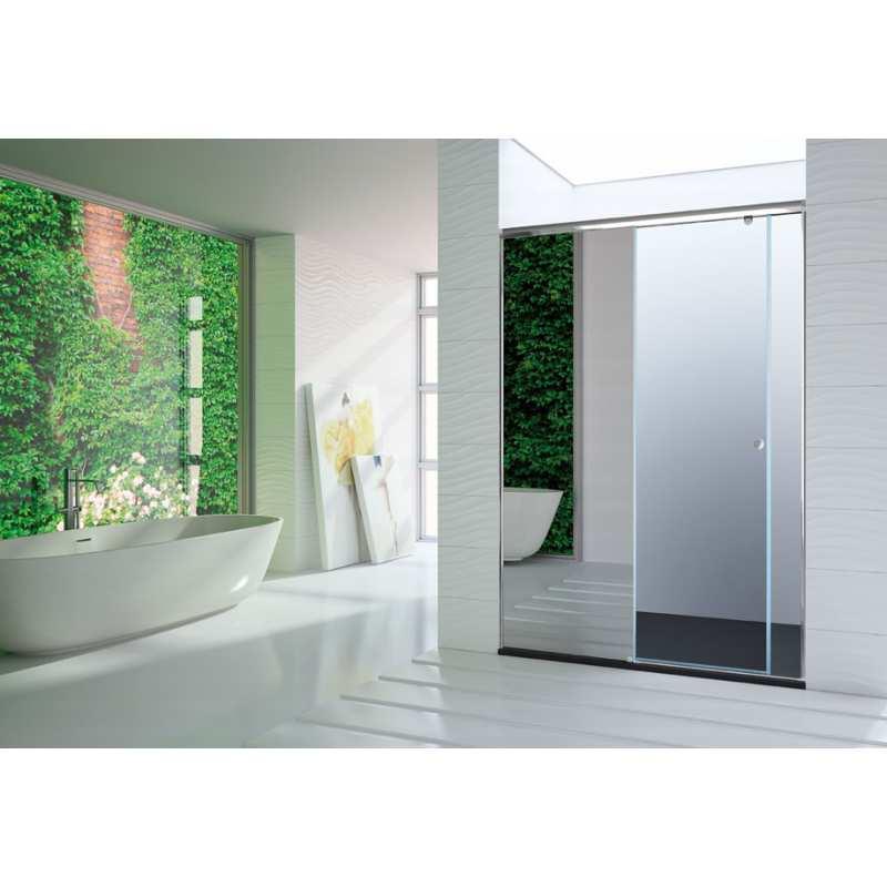 Mampara de ba o kassandra serie onda modelo on102 efecto - Espejo para ducha ...