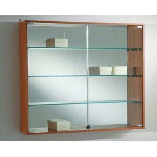 Vitrina de pared coleccionistas 3 baldas y puerta corredera - Puertas correderas de cristal ikea ...