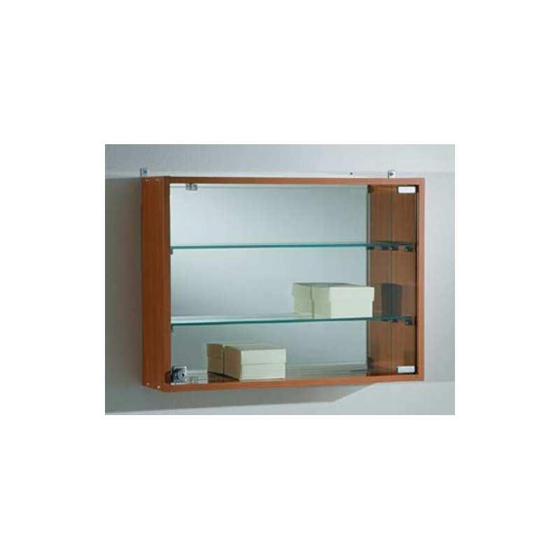 Vitrina de pared coleccionistas laminado haya y cristal - Vitrinas de pared para colecciones ...