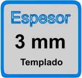 Espesor de mampara 3mm