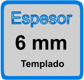 Espesor de mampara 6mm