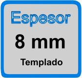 Espesor de mampara 8mm
