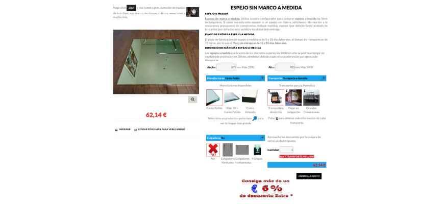 Productos de theme for Espejos a medida online