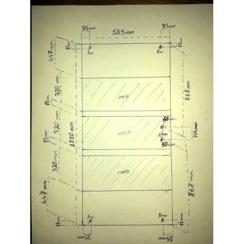 Vidrio 5mm templado incoloro con taladros envio incluido a Madrid