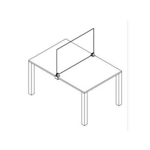 Mamparas de cristal covid 19 Sujección lateral