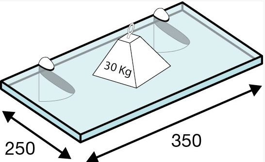 Portarrepisas hasta 30 kg. peso