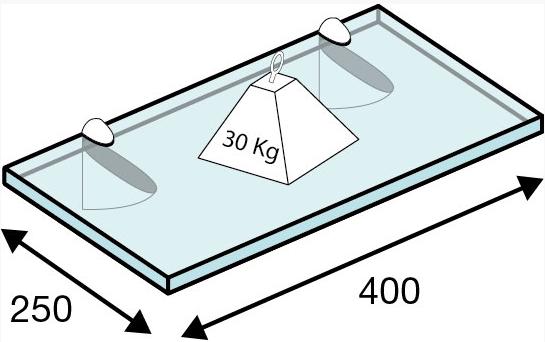 Portarrepisas cromo hasta 40 kg. peso