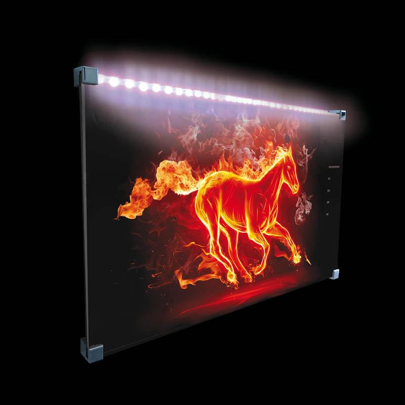 Radiador de vidrio. Potencia necesaria para calentar una habitación
