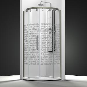 Mamparas profiltek de ducha con vidrio curvado